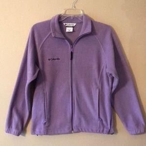 Columbia Light Purple Full ZIP Fleece